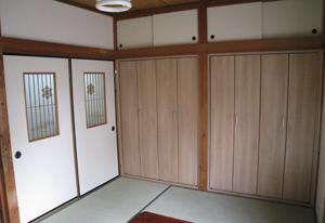 リフォーム後は快適な寝室となった2階和室